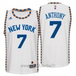 Maillot New York Knicks No.7 Carmelo Anthony Blanc Dentelle