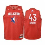 Maillot Enfant 2020 All Star NO.43 Pascal Siakam Rouge