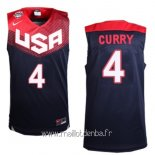 Maillot 2014 USA Curry No.4 Noir