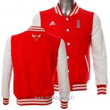 Veste En Laine Chicago Bulls No.1 Derrick Rose Rouge