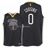 Maillot Enfants Golden State Warriors NO.0 DeMarcus Cousins Noir Statement 2018