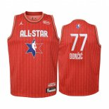 Maillot Enfant 2020 All Star NO.77 Luka Doncic Rouge