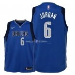 Maillot Enfants Dallas Mavericks NO.6 DeAndre Jordan Bleu Icon 2018