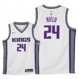 Maillot Enfants Sacramento Kings NO.24 Buddy Hield Blanc Association 2018
