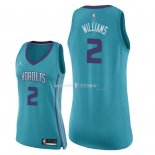 Maillot Femme Charlotte Hornets NO.2 Marvin Williams Vert Icon 2018