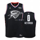 Maillot Enfants 2019 All Star NO.0 Russell Westbrook Noir