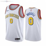 Maillot NBA Warriors NO.0 D'angelo Russell Blanc Hardwood Classics