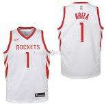 Maillot Enfants Houston Rockets No.1 Trevor Ariza Blanc Association 2017/2018