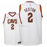 Maillot Enfants Cleveland Cavaliers NO.2 Collin Sexton Blanc Association 2018