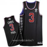 Maillot 2015 All Star No.3 Chris Paul Noir