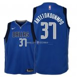 Maillot Enfants Dallas Mavericks NO.37 Kostas Antetokounmpo Bleu Icon 2018