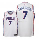 Maillot Enfants Philadelphia Sixers NO.7 Timothe Luwawu Cabarrot Blanc Association 2018