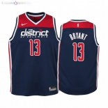 Maillot NBA Enfant Washington Wizards NO.13 Thomas Bryant Marine Statement 2019-20