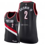 Maillot Femme Portland Trail Blazers NO.2 Wade Baldwin IV Noir Icon 2018