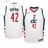 Maillot NBA Enfant Washington Wizards NO.42 Davis Bertans Nike Blanc Ville 2019-20