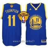 Maillot Golden State Warriors Finales No.11 Thompson Bleu