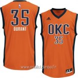 Maillot Oklahoma City Thunder No.35 Kevin Durant Orange