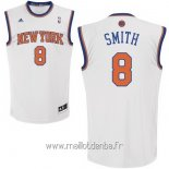 Maillot New York Knicks No.8 J.R.Smith Blanc