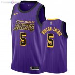 Maillot Los Angeles Lakers Nike NO.5 Talen Horton Tucker Nike Pourpre Ville 2019-20