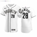 Maillot NBA Nets x MLB Manche Courte NO.26 Spencer Dinwiddie Blanc 2020