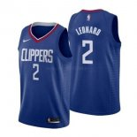 Maillot Los Angeles Clipper Nike NO.2 Kawhi Leonard Bleu Icon 2019-20