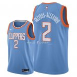 Maillot Los Angeles Clippers Nike NO.2 Shai Gilgeous Alexander Nike Bleu Ville 2018