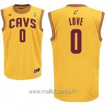 Maillot Cleveland Cavaliers No.0 Kevin Love Jaune