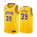 Maillot Los Angeles Lakers Nike NO.39 Dwight Howard Jaune Icon 2019-20