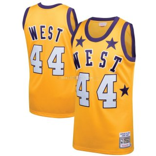 Maillot NBA All Star 1972 NO.44 Jerry West Jaune