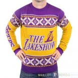 NBA Unisex Ugly Sweater Los Angeles Lakers Jaune Pourpre