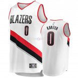 Maillot Enfants Portland Trail Blazers NO.0 Enes Kanter Blanc Icon