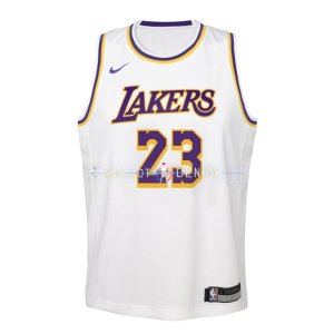 Maillot Enfants L.A.Lakers No.23 Lebron James Blanc Association 2018/2019