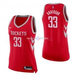 Maillot Femme Houston Rockets No.33 Ryan Anderson Rouge Icon