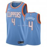 Maillot Los Angeles Clippers Nike NO.4 Milos Teodisic Nike Bleu Ville 2018