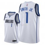 Maillot Dallas Mavericks Nike NO.1 Dennis Smith Jr Blanc Association 2018
