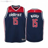 Maillot NBA Enfant Washington Wizards NO.15 Moritz Wagner Marine Statement 2019-20