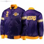 Veste De Los Rockets Angeles Lakers NO.2 Quinn Cook Pourpre