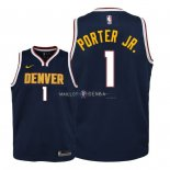 Maillot Enfants Denver Nuggets NO.1 Michael Porter Jr Marine Icon 2018-19