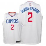 Maillot Enfants Los Angeles Clippers NO.2 Shai Gilgeous Alexander Blanc Association 2018
