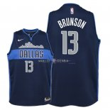 Maillot Enfants Dallas Mavericks NO.13 Jalen Brunson Noir Statement 2018
