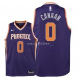 Maillot Enfants Phoenix Suns NO.0 Isaiah Canaan Pourpre Icon 2018