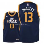 Maillot Enfants Utah Jazz NO.13 Tony Bradley Marine Icon 2018