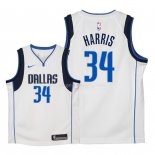 Maillot Enfants Dallas Mavericks NO.34 Devin Harris Blanc Association 2018