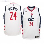 Maillot NBA Enfant Washington Wizards NO.24 Garrison Mathews Nike Blanc Ville 2019-20
