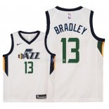 Maillot Enfants Utah Jazz NO.13 Tony Bradley Blanc Association 2018