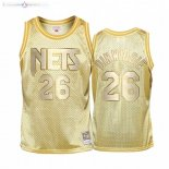 Maillot Enfants Brooklyn Nets NO.26 Spencer Dinwiddie Or Hardwood Classics