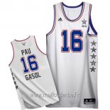 Maillot 2015 All Star No.16 Pau Gasol Blanc