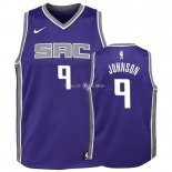 Maillot Enfants Sacramento Kings NO.9 B.J. Johnson Pourpre Icon