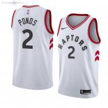 Maillot Toronto Raptors Nike NO.2 Shamorie Ponds Blanc Association 2019/2020