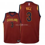 Maillot Enfants Cleveland Cavaliers NO.3 George Hill Rouge Icon 2018